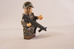 MP5 Full Stock (Sean-Michael Griffin) Tags: modern soldier lego good helmet figure minifig custom mp5 minifigure warfare mw2 mw3 brickarms modernwarfare3