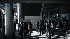 Bus Stop (JoMiHo) Tags: japan tokyo shinjuku fujifilmxpro1 fujinonxf35mmf14