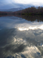 The Sky Fell Down (BlueRidgeKitties) Tags: lake reflection clouds landscape northcarolina blueridgeparkway grandfathermountain pricelake westernnorthcarolina southernappalachians canonpowershotsx40hs