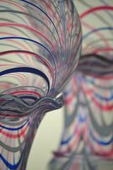 Red, White and Blue (KaDeWeGirl) Tags: newyorkcity glass museumofart manhattan metropolitan themet vases witchballs newamericanwing