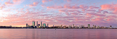 Perth City - Under A Sunset Sky (Luke Austin) Tags: sunset skyline stitch panoramic perth westernaustralia lukeaustin soulscapephotography
