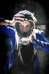 The Blue Product (Alexander C. Kokkinos) Tags: metal scary industrial hardcore gasmask noise