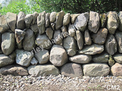 WM Charley MacMartin 2, profile single wall, dry laid stone construction, copyright 2014