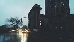 Slippery roads. (Explored) (Linh H. Nguyen) Tags: road street city nyc light newyork reflection rain night chinatown explore vsco flickrandroidapp:filter=none htcone