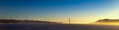 USA 4S-120609-047 (Kelly Cheng) Tags: sanfrancisco california travel blue sunset sea panorama usa color colour tourism nature water sunshine horizontal landscape daylight us colorful day outdoor unitedstatesofamerica vivid sunny bluesky nobody nopeople goldengatebridge northamerica colourful alcatrazisland seacape traveldestinations