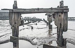 Exposure (SydPix) Tags: wood trestle west dock sand rust mud timber steel jetty estuary alexandra wharf disused hull rotten decrepit derelict girder humber baulks sydyoung