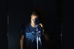 Painting with light selfie (Grahame Addicott Photography) Tags: camera light self canon dark painting mirror eric tripod dramatic curry dslr portrair selfie