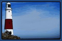 DSC00301-Portland-Bill-Lighthouse-Comic (Lex Photographic) Tags: lighthouse digitalart portlandbill dorsetpictures