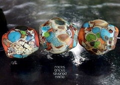 Rocks Bricks Silvered Matte (Laura Blanck Openstudio) Tags: show blue roof etched usa brown abstract black brick green art glass festival set silver tile beads leaf big italian sand beige rocks colorful aqua published artist glow handmade stones eggplant turquoise fine arts almond plum sienna funky jewelry pebbles made odd caramel honey earthy winner copper opaque bead organic kiln nuggets murano lampwork multicolor raku artisan matte whimsical loose frosted frit openstudio asymmetric ocher speckles tumbled silvered annealed openstudiobeads