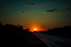Almost home (Notkalvin) Tags: sunset sun highway traffic michigan freeway flare interstate intothesun mikekline notkalvin notkalvinphotography