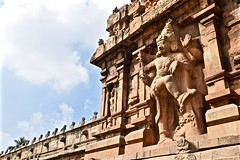 Guarding the Gate (The Spirit of the World) Tags: india history temple god religion guard entrance carving relief hindu protection madurai hindugod
