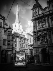 P2240190-Edit.jpg (brodecva) Tags: sun church square prague tram lit streetcar strana malostransk mal beseda