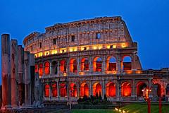 Colise de Rome la nuit (jjcordier) Tags: rome empire nuit romain colise heurebleue