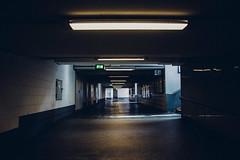 Exit. (achterbahnmdchen) Tags: light stairs germany dark underground deutschland europa europe hauptbahnhof trainstation mainz rheinlandpfalz rhinelandpalatinate achterbahnmdchen