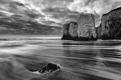 Botany Bay Morning Tide Mono (Child of Rarn) Tags: longexposure reflection water monochrome sunrise landscape coast countryside seaside botanybay d7000 tokina111628 hoyand32