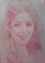 my sister portrait by :malda ajlani (malda ajlani) Tags: pencil sketch artworks   malda    ajlani