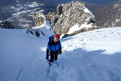 Canale Pagani, Grignetta (! HoliShoes _____________) Tags: mountain neve alpinismo montagna canale pagani grignetta