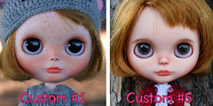 Noelle before and after (zsofianyu) Tags: brown eye art shop for store eyes doll dress handmade crochet progress before chips clothes lad customized after blythe neo freckles etsy custom takara nicky tomy fa adoption beforeafter customizing crocheting eyechips recustom recustomized puppelina