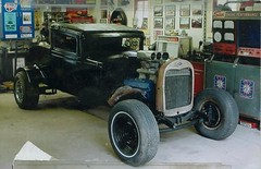 1932 all steel 3 window Chevy (Philsiron) Tags: old 3 hot window car race drag rat iron antique steel rusty chevy strip rod gasser 460 gaser