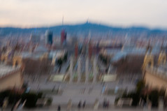Barcelone ICM (marco.giordana) Tags: barcelona city travel light holiday abstract motion blur art colors town high movement spain nikon time down catalunya impressions es effect motionless impressionist timeless icm barcelone catalogna impressionisme d90 particularity nikonist intentionalcameramovement icmproject