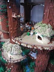 Ewokdorf - Rckseite (KW_Vauban) Tags: starwars lego endor ewokvillage episodevi thereturnofthejedi