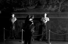 Hail Caesar   -   Ave Cesare (mattia_chef) Tags: people italy white black film monochrome canon fun florence blackwhite italia kodak trix social epson firenze analogue moment canonet ql17 decisivemoment decisive v550 analogicait