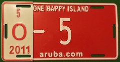 ARUBA 2011 ---OVERSIZED VEHICLE #O-5 (woody1778a) Tags: aruba caribbean nederland antilles tropical woody woody1778a mycollection myhobby onehappyisland 2010s arubacom licenseplate registrationplate numberplate