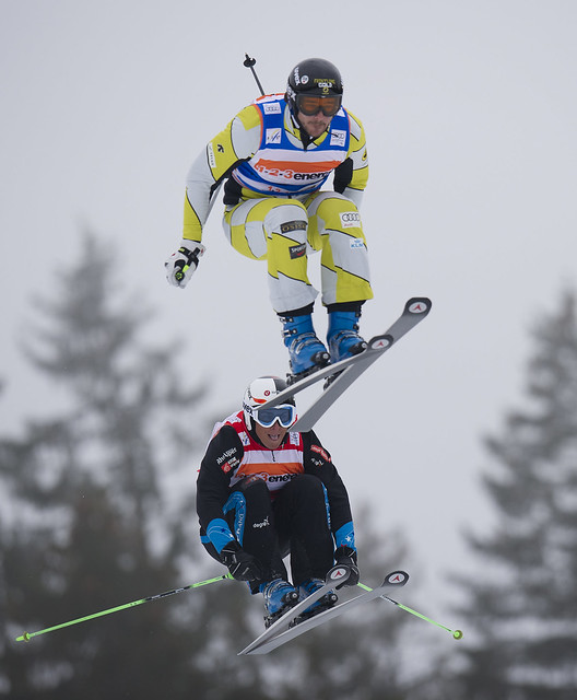 Nik Zoricic in action during World Cup ski cross in Bischofswiesen/Goetschen, Germany.