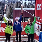 Red Mountain Miele Cup GS J1 Podium FIELD Charley - 1st J1;  STEEVES Kelly - 2nd J1;  SWETTE Rae - 3rd J1;   CREDIT: Gregor Druzina
