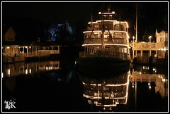 """Mark Twain."" (808bride2be) Tags: reflection night river boat scenic disneythemeparks"