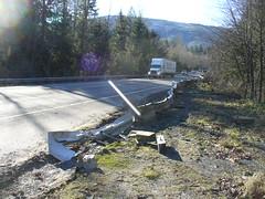 Westbound SR 18 guardrail repair