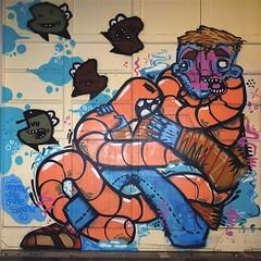 "Van de Straat Expo ""LD Graffiti Event"" (Akbar Sim) Tags: streetart holland netherlands graffiti ominous nederland denhaag thehague earworm vandestraat akbarsimonse narcoze akbarsim ldgraffitievent lerendoen"