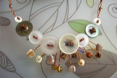 Brown Hues, (BlackballBling) Tags: beads handmade buttons etsy blackball blackballbling currantlyoddfellows