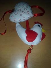 Mobile Galinhas (Lola_Contas e Cores) Tags: mobile feltro tecidos galinhas