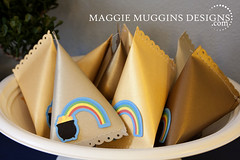 Gold Rainbow Treat Boxes (Maggie Muggins Designs) Tags: birthday party silhouette gold rainbow sd cameo shape stpatricksday favors potofgold littlegifts treatbox maggiemugginsdesigns freeshapeparty