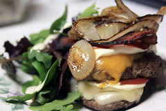 forty (busybeebiz) Tags: bacon swiss onions burgers cheddar 40365 mixedgreensandspinach