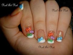 Francesinha com lacinhos (NailArtNat) Tags: art nail unha laço coloridos francesinha lacinhos artística decorada