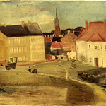"<b>Untitled (City Scene)</b><br/> Frans Wildenhain ""Untitled (City Scene)"" Oil, n.d LFAC # 774<a href=""http://farm8.static.flickr.com/7186/6852375447_5396bd55be_o.jpg"" title=""High res"">∝</a>"