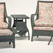 117. (5) Piece Set of Painted Wicker Furniture