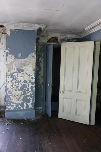 Master bedroom mismatched doors