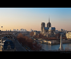 Paris under his winter coat (Cal Redback) Tags: paris france color seine skyline canon notredame hdr ima laseine canon2470 canon5dmarkii calredback