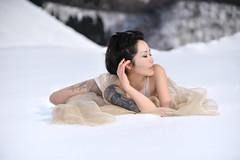 Portrait Necoco # 112 (HarQ Photography) Tags: winter portrait woman snow japanese nikon nissin d700 di866pro