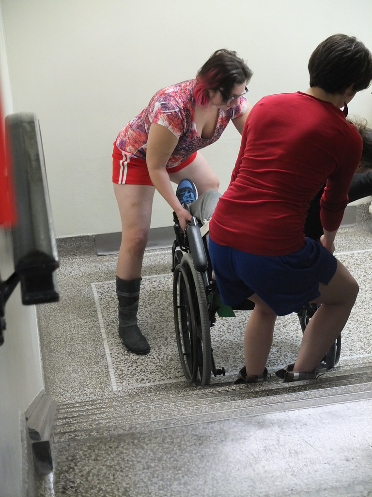 (sfrikken) Tags: Uw Sarah Wisconsin Rachel Lab Stair Classroom Wheelchair  Madison Krista Neuro