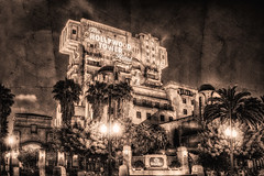 Tower Of Terror Texture  Revisted (cstout21) Tags: california ca travel chris vacation blackandwhite usa tower texture clouds hotel us gloomy unitedstates disneyland disney spooky palmtrees hollywood orangecounty anaheim westcoast hdr highdynamicrange stout californiaadventure waltdisney towerofterror twilightzone hollywoodtowerhotel disneyscaliforniaadventure twilightzonetowerofterror disneylandresort ngoc blackwhitephotos canon60d texturedimage stoutandstout northamera