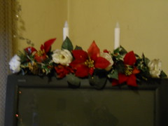 Christmas decoration (Maenette1) Tags: christmas decoration poinsettas candles menominee uppermichigan flicker365
