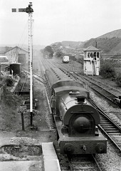 Embsay North Yorkshire Whitsuntide 1974 (loose_grip_99) Tags: uk railroad england industry station train blackwhite industrial tank noiretblanc yorkshire transport engine rail railway trains steam locomotive signal railways northyorkshire preservation signalbox embsay embsayboltonabbeysteamrailway 2474 uksteam gassteam yorkshireenginecompany 040st