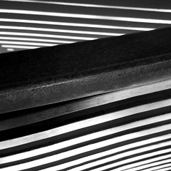illusion (Argyro...) Tags: light blackandwhite abstract lines wall square shadows illusion chairback frommybalcony blackwhitephotos