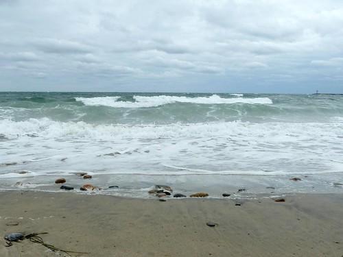 Block Island Beach Cloudy