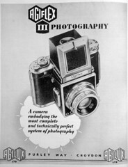 1955 Agiflex camera advert (Matt Bigwood) Tags: camera slr 1955 reflex advert british agi agilux agiflex