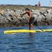 Hovie SUP | Coco test racing the Comet